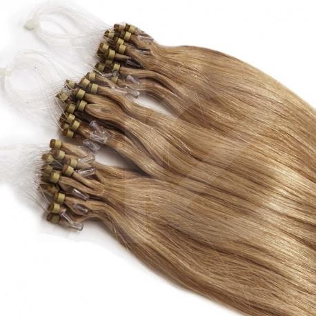"""Micro loop hair extensions golden blonde straight 18"""" 085 Gr"""
