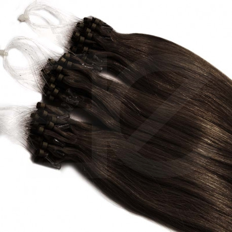 Micro loop extensions 100 % human hair n°1 (black) 18 Inch 085 Gr
