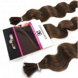 Extensions n 8 (chesnut) 100% natural cold attachment 24 Inch
