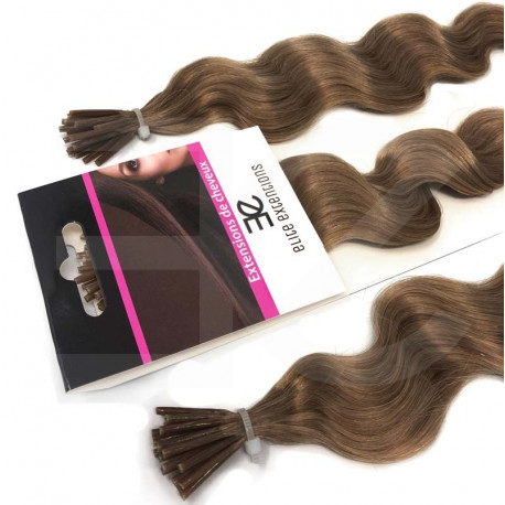 Extensions n12 (LIGHT CHESNUT) 100% natural cold attachment 24 Inch