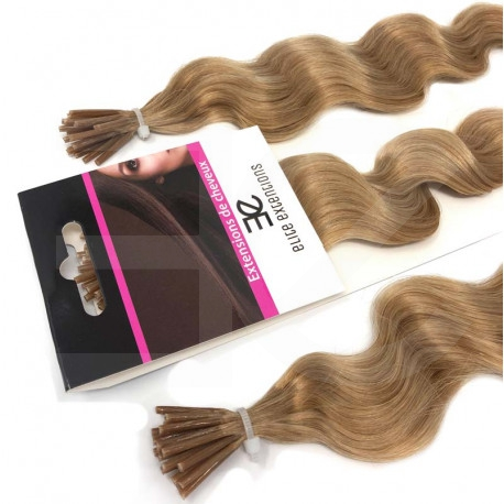 Extensions n14 (golden blonde) 100% natural cold attachment 24 Inch