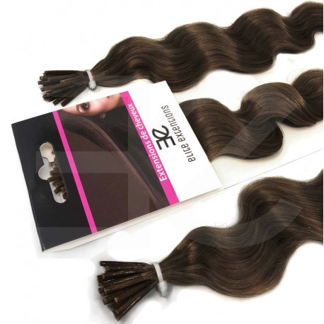 Extensions n 6 (chesnut) 100% natural cold attachment 24 Inch