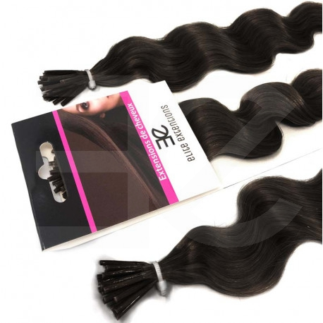 Extensions n1B (dark) 100% natural cold attachment 24 Inch