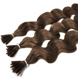 Extensions n 1 (black) 100% natural hair cold attachment 50 cm curly