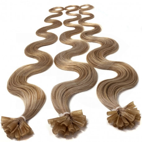Pre bonded hair extensions 100 % human hair n°14 (golden blonde) 18 Inch