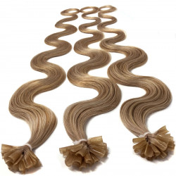 Extensions n 14 (golden blonde) 100% natural hair hot fusion 63 cm curly
