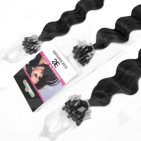 Extensions n°1 (BLACK) 100% natural hair MICRO LOOP 24 Inch
