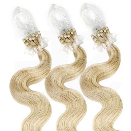 Extensions n 14 (GOLDEN BLONDE) 100% natural hair LOOP 48 cm