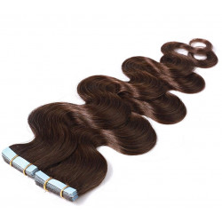 """Tape in hair extensions chocolate wavy 18"""""""