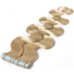 """Tape in hair extensions light blonde wavy 18"""""""