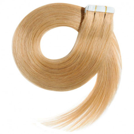 """Tape in hair extensions golden blonde straight 28"""""""