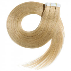 """Tape in hair extensions light blonde straight 24"""""""