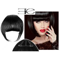 Clip in fringe N1 (black) 100% natural hair extensions