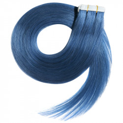 """Tape in hair extensions BLUE straight 18"""""""