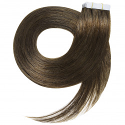 """Tape in hair extensions chestnut straight 18"""""""