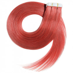 """Tape in hair extensions RED straight 18"""""""