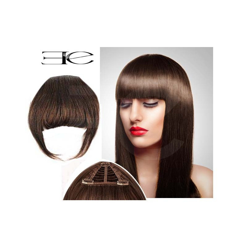 Clip In Fringe N4 Chocolate 100 Natural Hair Extensions