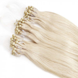 "Micro loop hair extensions POLARBLOND straight 18"""