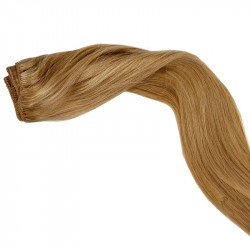 Weft hair extensions light blonde 18 Inch