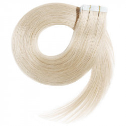 """Tape in hair extensions polar blonde straight 24"""""""