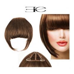 Clip in fringe N8 (chestnut) 100% natural hair extensions
