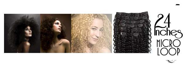 Micro loop hair extensions deep wave 24 Inch