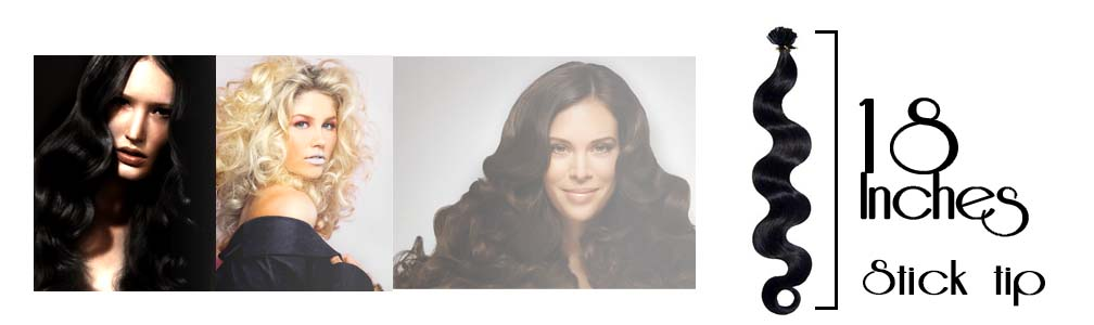 Micro ring hair extensions wavy 18 Inch