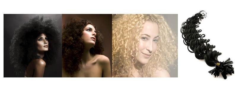 Pre bonded hair extensions DEEP WAVE