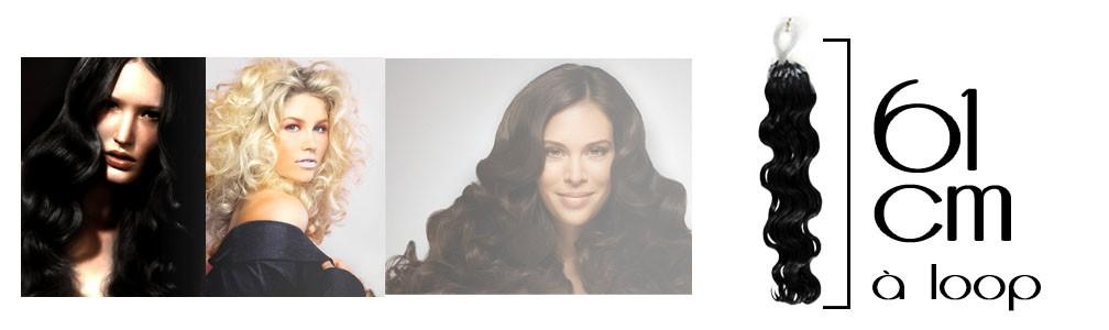 Micro loop hair extensions wavy 24 Inch