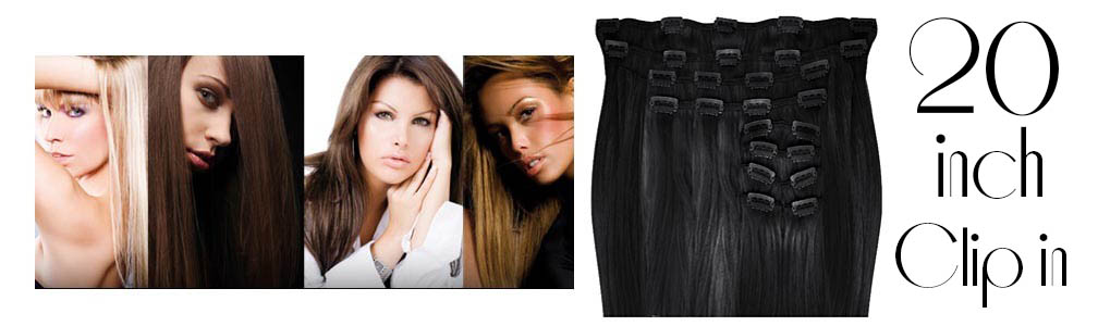 Clip in hair extensions straight max volume 180g 20 inch